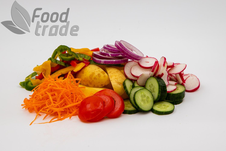 Tükeldatud värsked köögiviljad